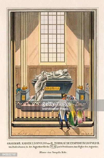 Grabmahl Kaiser Leopolds des II von Prof v Zauner in der Augustiner Kirche [Marble grave of Emperor Leopold II by Franz Anton Zauner in the...
