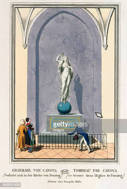 Grabmahl von Canova befindet sich in der Kirche von Penzing [Tomb for Barbara v Rottmann by Carlo Finelli 1812 In the parish church of Penzing] 1825...