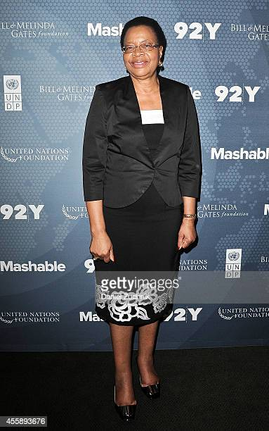 Graca Machel attends the 2014 Social Good Summit at 92Y on September 21 2014 in New York City