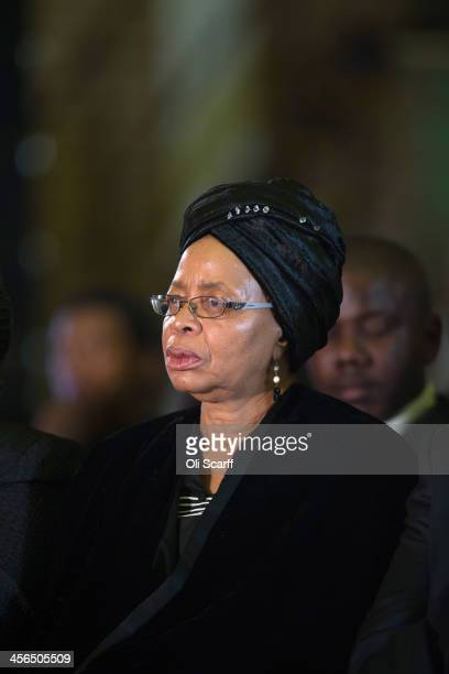 Graca Machel the widow of Nelson Mandela attends an African National Congress led alliance send off ceremony for former South African President...