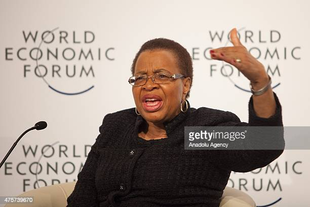 Graca Machel widow of the late South African President Nelson Mandela attends a World Economic Forum on Africa summit in Cape Town South Africa on...