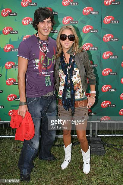 Grace AdamsScott and Mikey Dalton during V Festival 2006 Chelmsford Day1 Virgin Mobile Louder Lounge at Chelmsford Great Britain