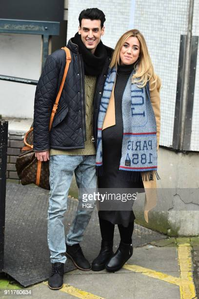 Grace AdamsShort Mikey Dalton seen at the ITV Studios on January 29 2018 in London England