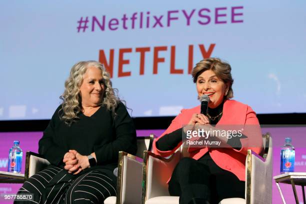 Grace and Frankie Executive Producer Marta Kauffman and Gloria Allred attend the Rebels and Rule Breakers Panel at Netflix FYSEE at Raleigh Studios...