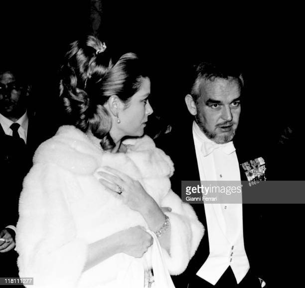 Grace and Rainier of Monaco at a charity party for the Red Cross Foundation at the 'Casa de Pilatos' Sevilla, Spain.