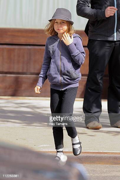 Grace Anne Matthews leaves a Tribeca hotel on April 15 2011 in New York City