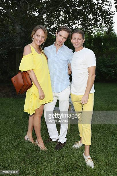 Grace Atwood Andrew Nodell and Joseph Merrill attend Daily Front Row's Luxury and Love party at Inn at Windmill Lane on August 20 2016 in Amagansett...