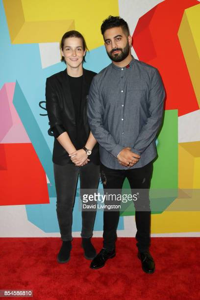Grace Baldridge and Amir Nikoui attend the 7th Annual 2017 Streamy Awards at The Beverly Hilton Hotel on September 26 2017 in Beverly Hills California