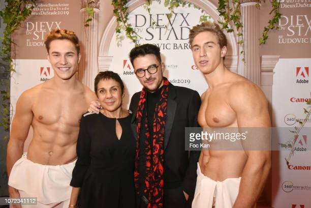 Grace Baron her son photographer Ludovic Baron attend 'Les Dieux du Stade 2019' Calendar Launch at Station Space on December12 2018 in Paris France