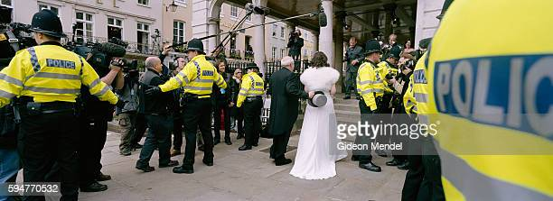 Grace Beesley who was about to marry Fraser Moores is escorted into the Guildhall by her father They were couple following Prince Charles and Camilla...