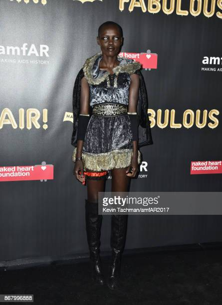 Grace Bol at the 2017 amfAR The Naked Heart Foundation Fabulous Fund Fair at the Skylight Clarkson Sq on October 28 2017 in New York City