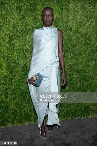 Grace Bol attends the CFDA / Vogue Fashion Fund 15th Anniversary Event at Brooklyn Navy Yard on November 5 2018 in Brooklyn New York