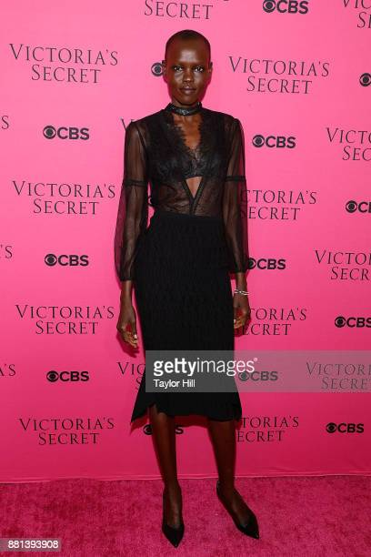 Grace Bol attends the Victoria's Secret Viewing Party Pink Carpet celebrating the 2017 Victoria's Secret Fashion Show in Shanghai at Spring Studios...