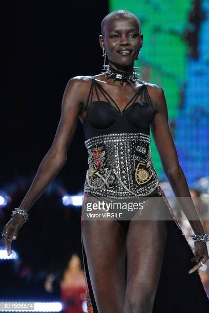 Grace Bol walks the runway at the 2017 Victoria's Secret Fashion Show In Shanghai Show at MercedesBenz Arena on November 20 2017 in Shanghai China