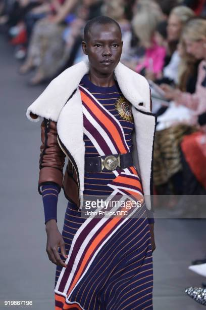 Grace Bol walks the runway at the Temperley London show during London Fashion Week February 2018 at on February 18 2018 in London England