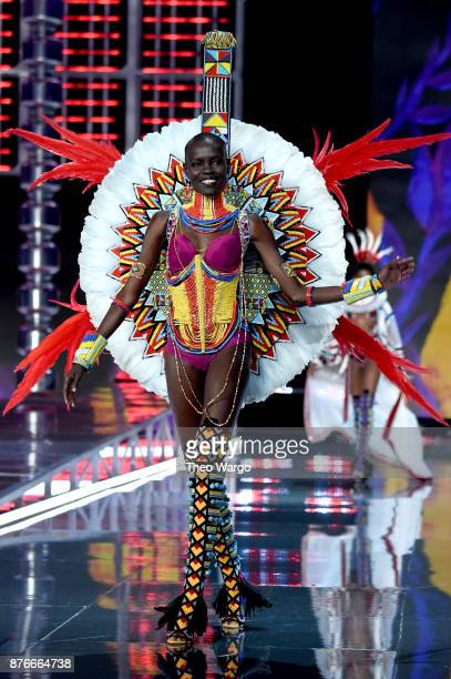 Grace Bol walks the runway during the 2017 Victoria's Secret Fashion Show In Shanghai at MercedesBenz Arena on November 20 2017 in Shanghai China