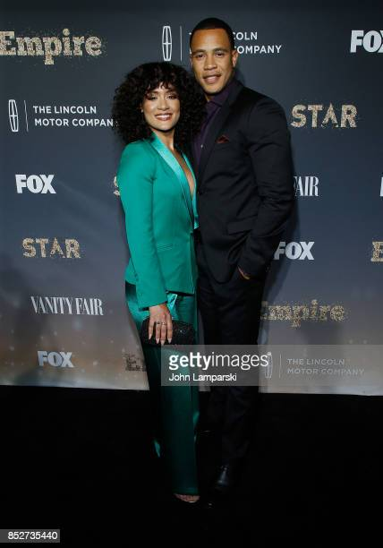 Grace Byers and Trai Byers attends Empire Star celebrate FOX's New Wednesday Night at One World Observatory on September 23 2017 in New York City