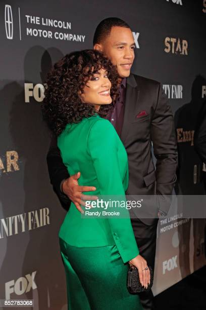 Grace Byers and Trai Byers pose on the red carpet during the Empire Star Celebrate FOX's New Wednesday Night at One World Observatory on September 23...