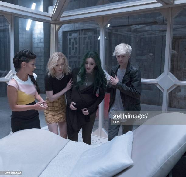 Grace Byers Skyler Samuels Emma Dumont and Percy Hynes White in the eMergence Season Two premiere episode of THE GIFTED airing Tuesday Sept 25 on FOX