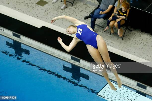 Grace Cable of Duke Diving competes during the Senior Women's 3m Springboard Semifinal during the 2017 USA Diving Summer National Championships on...