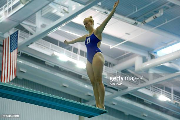 Grace Cable of Duke Diving prepares to dive during the Senior Women's 3m Springboard Semifinal during the 2017 USA Diving Summer National...