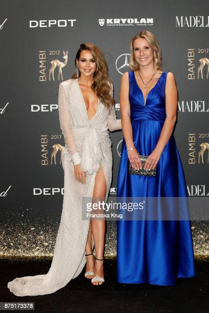 Grace Capristo and Miss Bambi Laura arrive at the Bambi Awards 2017 at Stage Theater on November 16 2017 in Berlin Germany