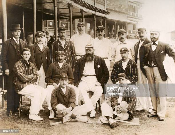 WG Grace captains the England cricket team which played the 1st Test Match against Australia held at Trent Bridge Nottingham on 1st June 1899 The...