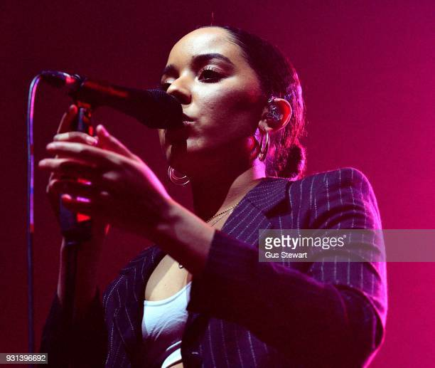 Grace Carter performs at Alexandra Palace on March 8 2018 in London England