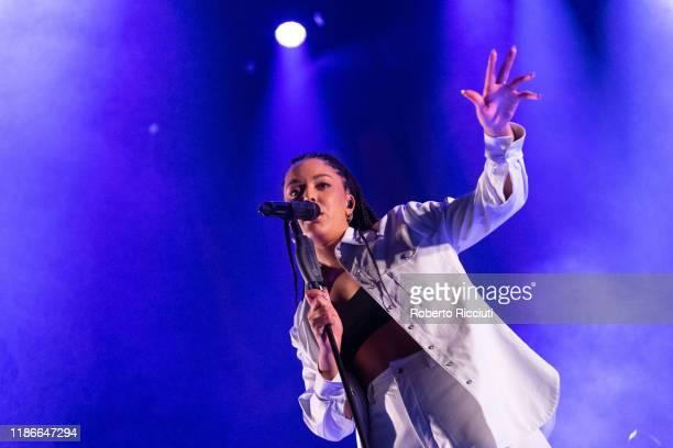 Grace Carter performs at Usher Hall on December 5 2019 in Edinburgh Scotland