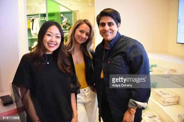 Grace Chang attendee and Moj Madhara attend the Flaunt Magazine Dinner with Nike and Revolve on February 15 2018 in Los Angeles California