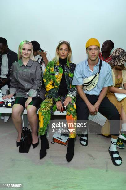 Grace Chatto and Tayler Prince Fraser attend the Bobby Abley show during London Fashion Week September 2019 at the BFC Show Space on September 17...