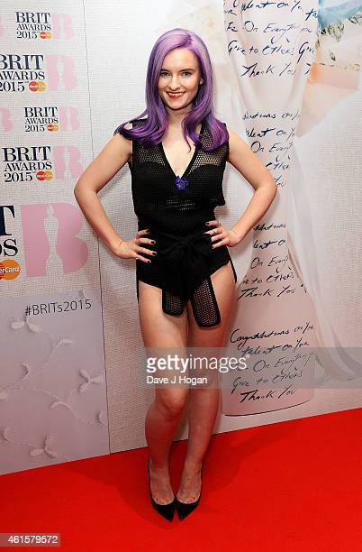 Grace Chatto from Clean Bandit at the nominations launch for The Brit Awards 2015 at ITV Studios on January 15 2015 in London England