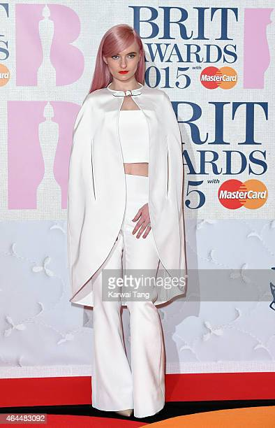 Grace Chatto from Clean Bandit attends the BRIT Awards 2015 at The O2 Arena on February 25 2015 in London England