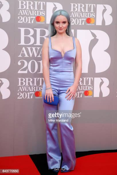 Grace Chatto of Clean Bandit attends The BRIT Awards 2017 at The O2 Arena on February 22 2017 in London England