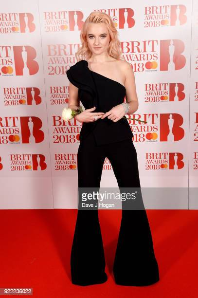 AWARDS 2018 *** Grace Chatto of Clean Bandit attends The BRIT Awards 2018 held at The O2 Arena on February 21 2018 in London England