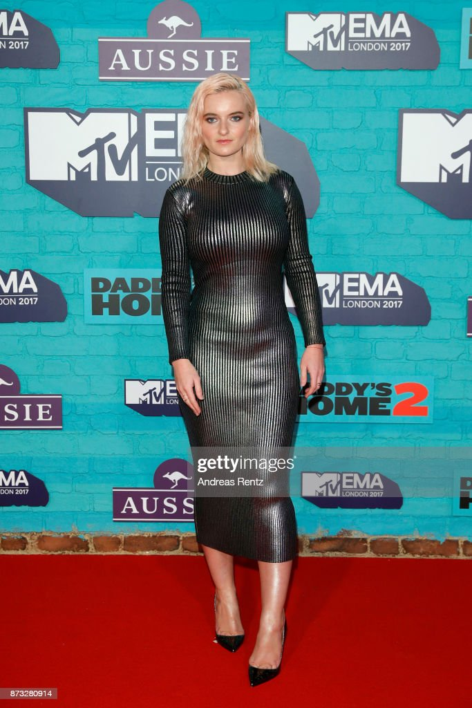 Grace Chatto of Clean Bandit attends the MTV EMAs 2017 held at The SSE Arena, Wembley on November 12, 2017 in London, England.