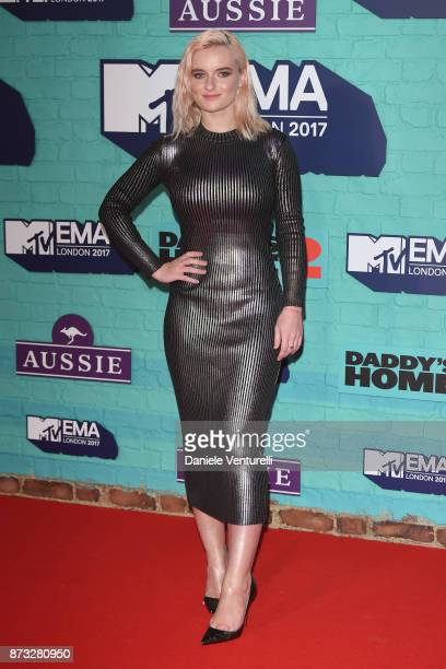 Grace Chatto of Clean Bandit attends the MTV EMAs 2017 held at The SSE Arena Wembley on November 12 2017 in London England