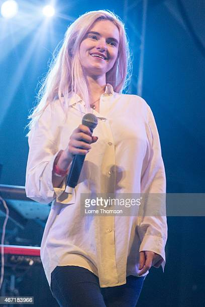 Grace Chatto of Clean Bandit performs at Stubbs on March 20 2015 in Austin United States