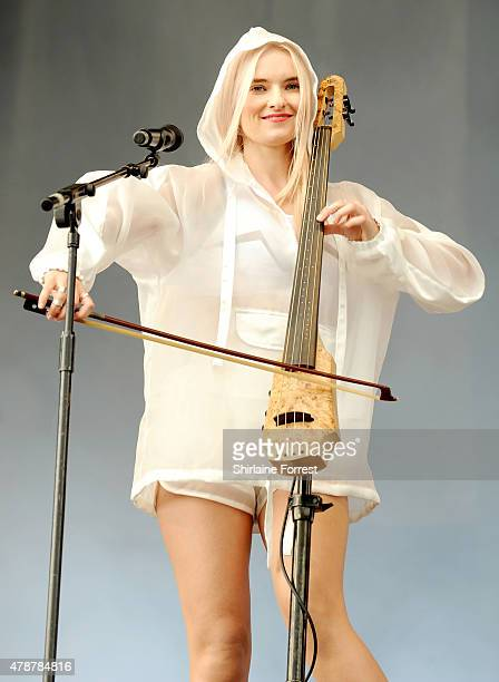 Grace Chatto of Clean Bandit performs at the Glastonbury Festival at Worthy Farm Pilton on June 27 2015 in Glastonbury England