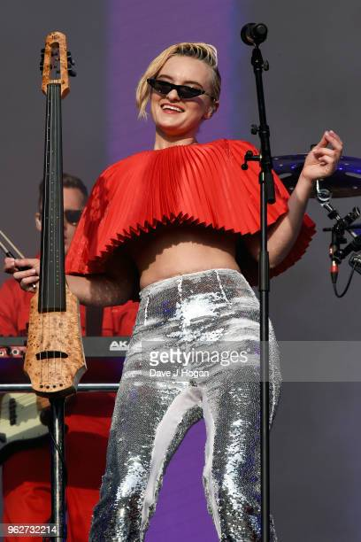 Grace Chatto of Clean Bandit performs during day 1 of BBC Radio 1's Biggest Weekend 2018 held at Singleton Park on May 26 2018 in Swansea Wales