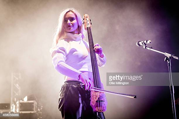 Grace Chatto of Clean Bandit performs on stage at Brixton Academy on October 29 2014 in London United Kingdom