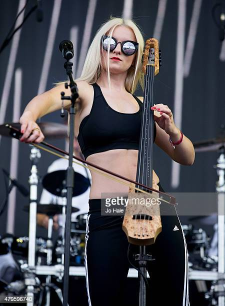 Grace Chatto of Clean Bandit performs on stage at Finsbury Park at the New Look Wireless Festival 2015Day 3 on July 5 2015 in London England