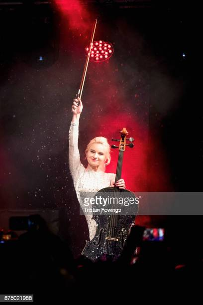 Grace Chatto of Clean Bandit performs on stage during the Regent Street Christmas lights switch on at Regent Street on November 16 2017 in London...