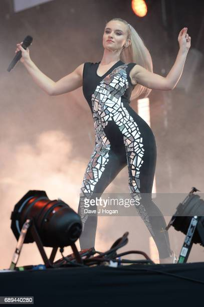 Grace Chatto of the band Clean Bandit attends Day 2 of BBC Radio 1's Big Weekend 2017 at Burton Constable Hall on May 28 2017 in Hull United Kingdom