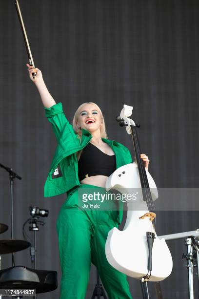 Grace Chatto performs with Clean Bandit on stage during BBC2 Radio Live 2019 at Hyde Park on September 15 2019 in London England