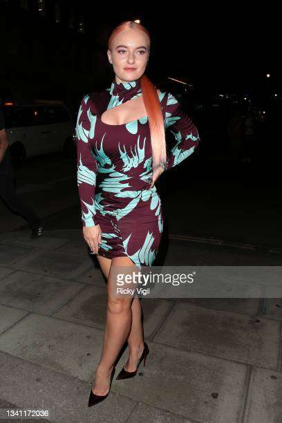 Grace Chatto seen attending The Future of Fashion: Dinner on the Catwalk with Clearpay & TikTok at The Old Selfridges Hotel during London Fashion...