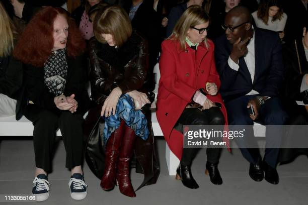Grace Coddington Anna Wintour Ronny Newhouse and Edward Enninful attend the Celine show as part of Paris Fashion Week Womenswear Fall/Winter...