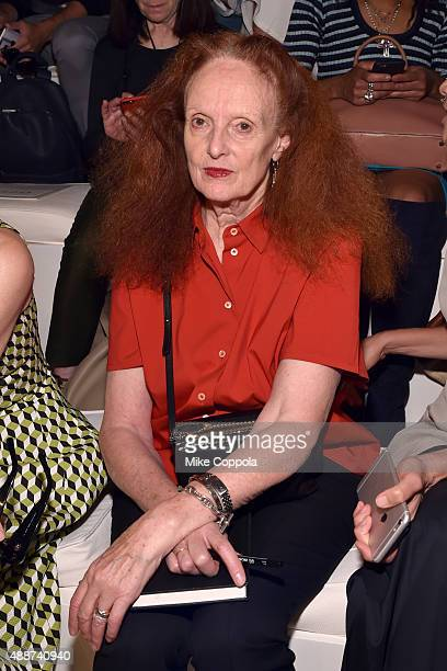 Grace Coddington attends Ralph Lauren Spring 2016 during New York Fashion Week The Shows at Skylight Clarkson Sq on September 17 2015 in New York City