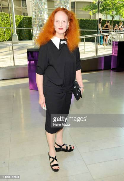 Grace Coddington attends the 2011 CFDA Fashion Awards at Alice Tully Hall Lincoln Center on June 6 2011 in New York City