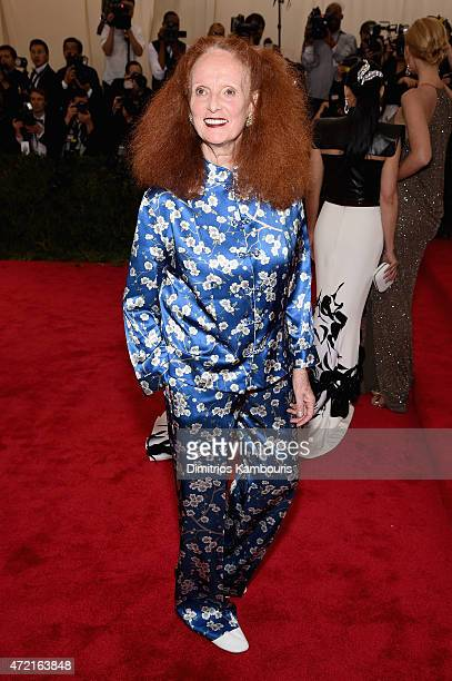 Grace Coddington attends the 'China Through The Looking Glass' Costume Institute Benefit Gala at the Metropolitan Museum of Art on May 4 2015 in New...